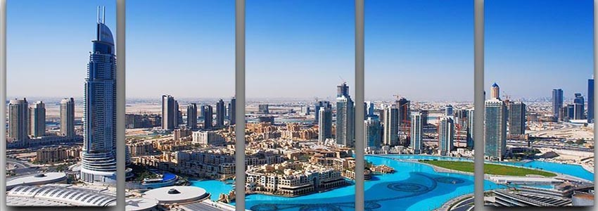 Dubai 5 Split Panel Canvas Prints
