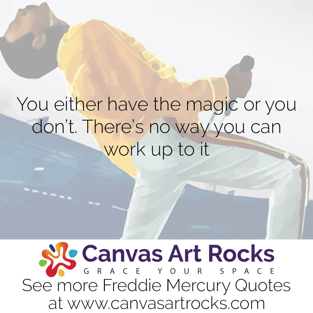 You either have the magic or you don't. There's no way you can work up to it