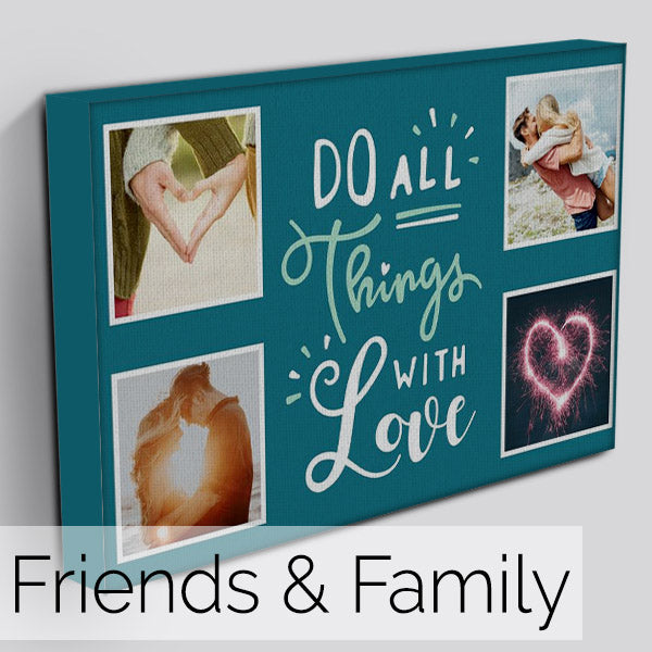 Personalised Friends & Family Photo Canvas Art