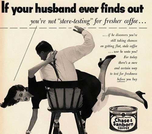 If your husband ever finds out vintage ad