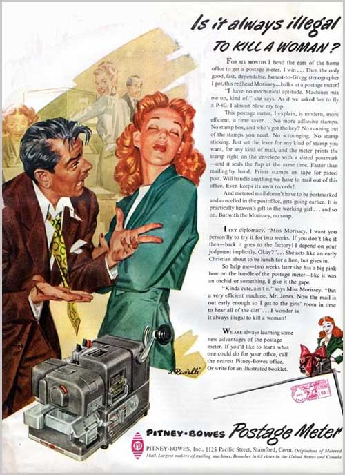 Is it always illegal to kill a woman vintage ad