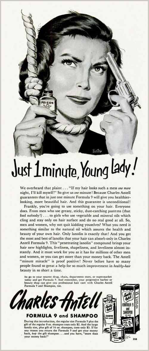 Just one minute young lady