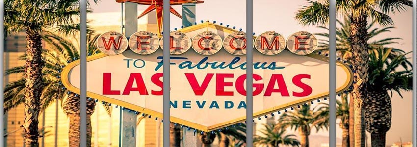 Las Vegas 5 Split Panel Canvas Prints