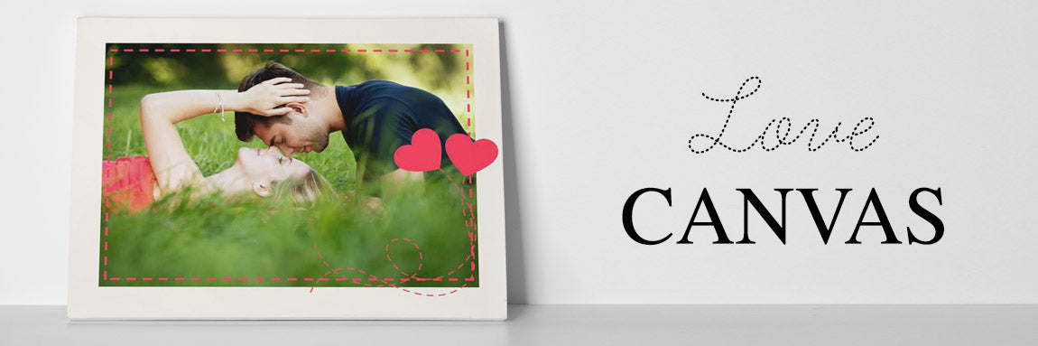 Personalised Love & Wedding Photo Canvas Prints