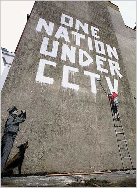 Banksy One Nation Under CCTV London