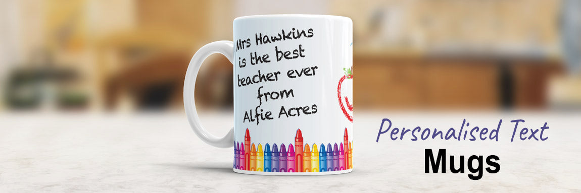 Personalised Text Mugs