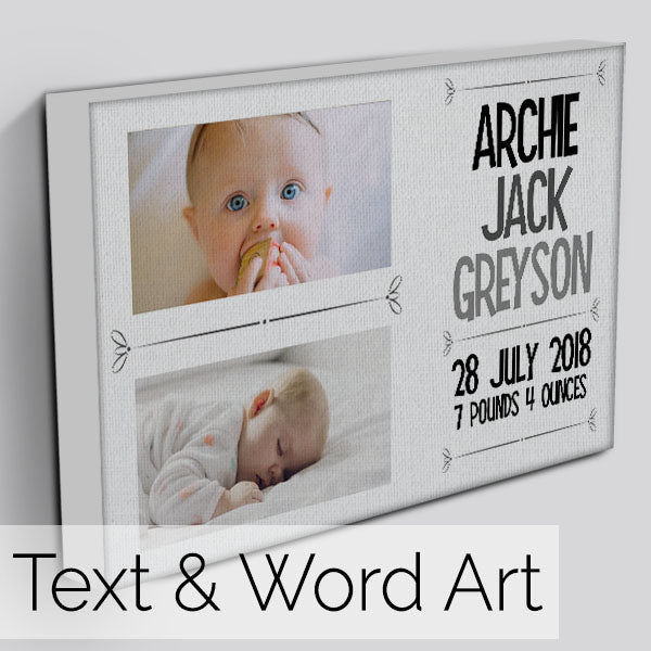 Text and Word Art Canvas