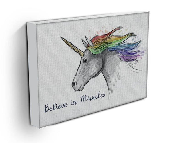 Unicorn Believe in Miracles Canvas Print