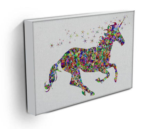 Unicorn Mosaic Canvas Print