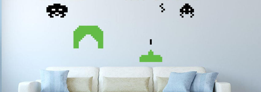 Robot & Video Game Wall Stickers