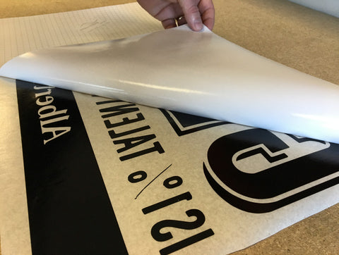 Removing the backing paper