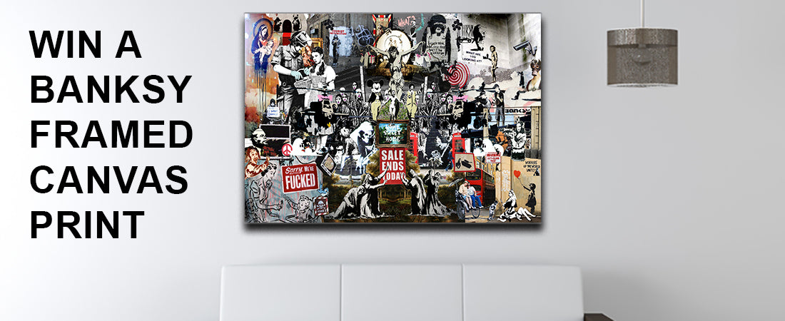 Win a Banksy Canvas Print