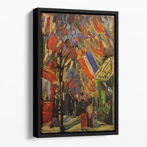 14 July in Paris by Van Gogh Floating Framed Canvas