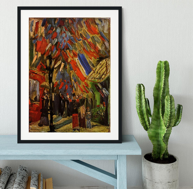 14 July in Paris by Van Gogh Framed Print - Canvas Art Rocks - 1