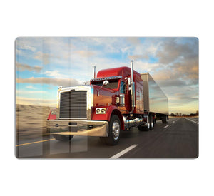 18 Wheel Red Truck HD Metal Print