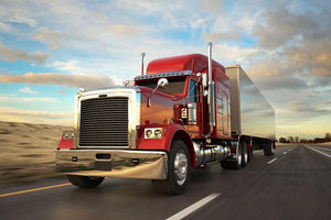 18 Wheel Red Truck Wall Mural Wallpaper - Canvas Art Rocks - 1