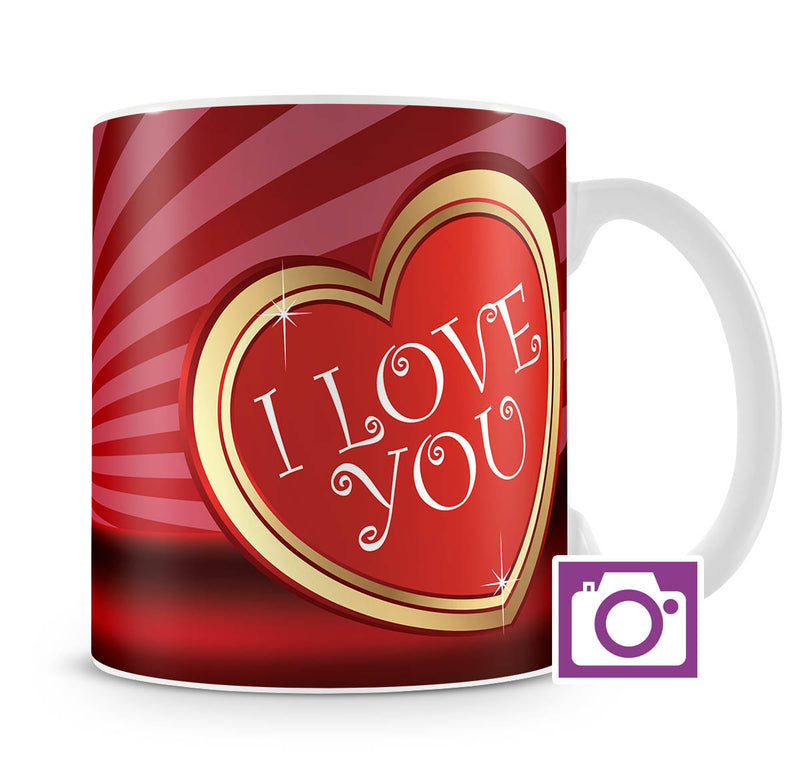 Personalised Mug - Love Heart Photo a