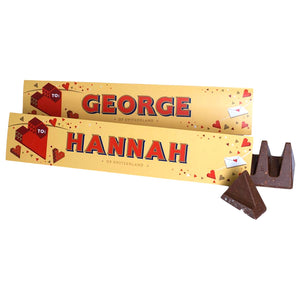 Personalised Valentine's Day Chocolate Toblerone a