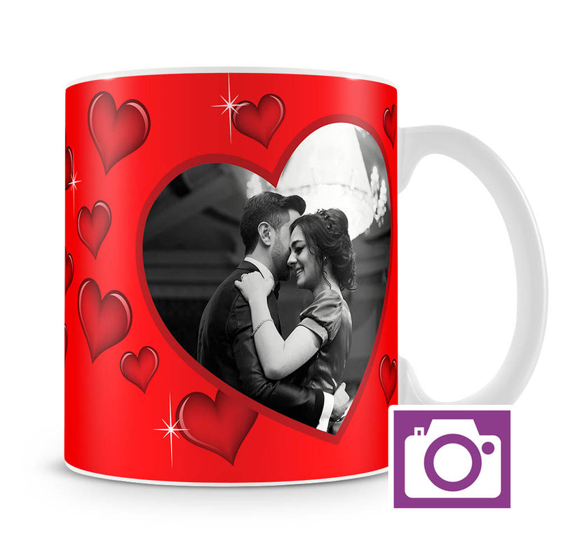 Personalised Mug - Love Heart Two Photo