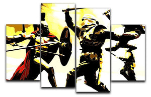 300 Movie Fight Scene 4 Split Panel Canvas  - Canvas Art Rocks - 1