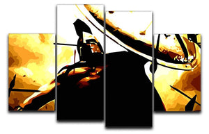 300 Movie Shield 4 Split Panel Canvas  - Canvas Art Rocks - 1