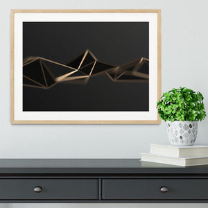 3D Gold Triangluated Surface Framed Print - Canvas Art Rocks - 3