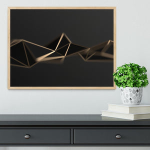 3D Gold Triangluated Surface Framed Print - Canvas Art Rocks - 4