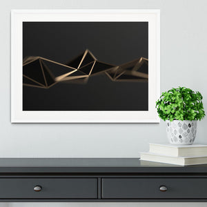 3D Gold Triangluated Surface Framed Print - Canvas Art Rocks - 5