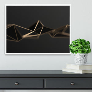 3D Gold Triangluated Surface Framed Print - Canvas Art Rocks -6