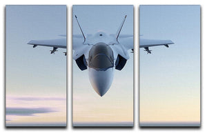 3D Jet F-35 fighter 3 Split Panel Canvas Print - Canvas Art Rocks - 1