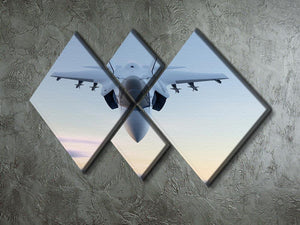 3D Jet F-35 fighter 4 Square Multi Panel Canvas  - Canvas Art Rocks - 2