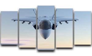 3D Jet F-35 fighter 5 Split Panel Canvas  - Canvas Art Rocks - 1