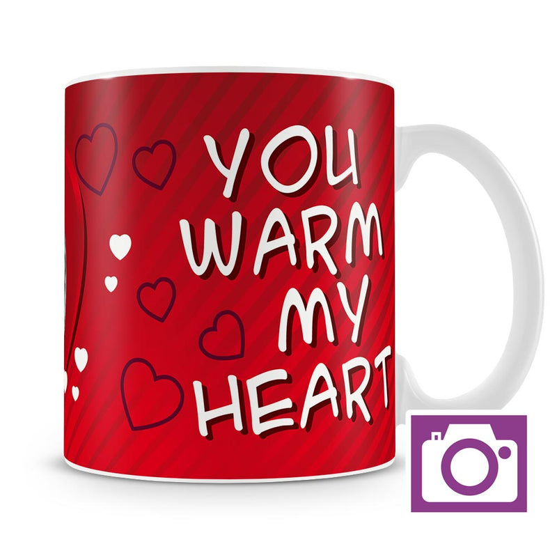 Personalised Mug - You warm my heart a