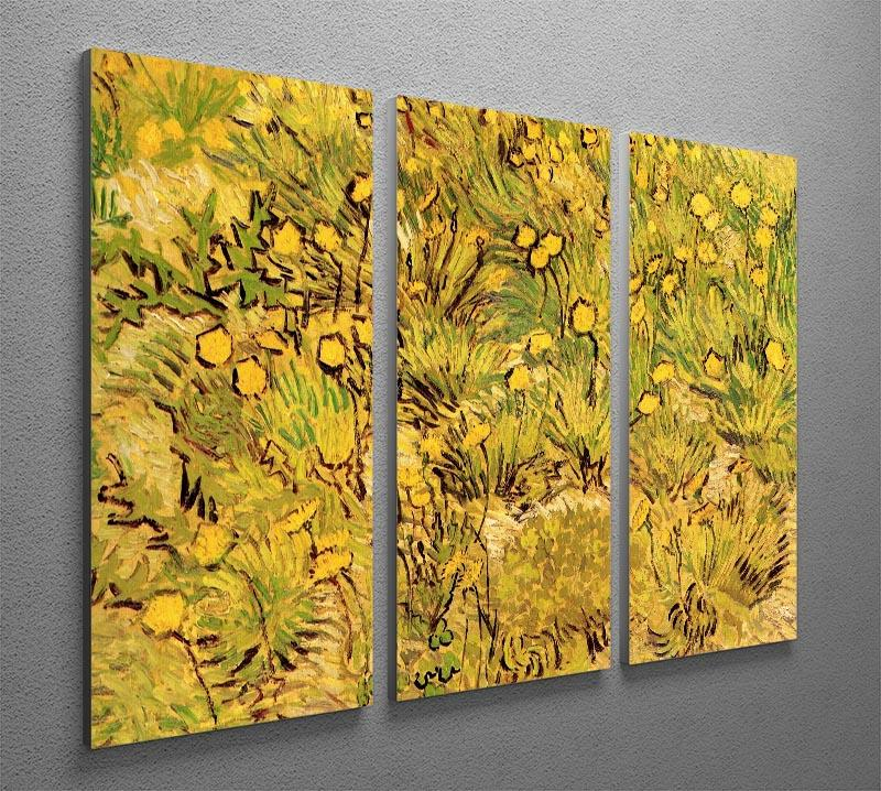 A Field of Yellow Flowers by Van Gogh 3 Split Panel Canvas Print - Canvas Art Rocks - 4