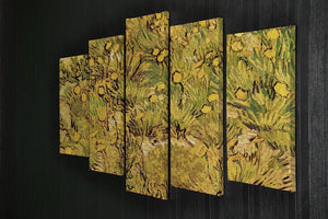 A Field of Yellow Flowers by Van Gogh 5 Split Panel Canvas - Canvas Art Rocks - 2