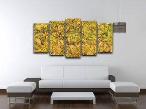 A Field of Yellow Flowers by Van Gogh 5 Split Panel Canvas - Canvas Art Rocks - 3