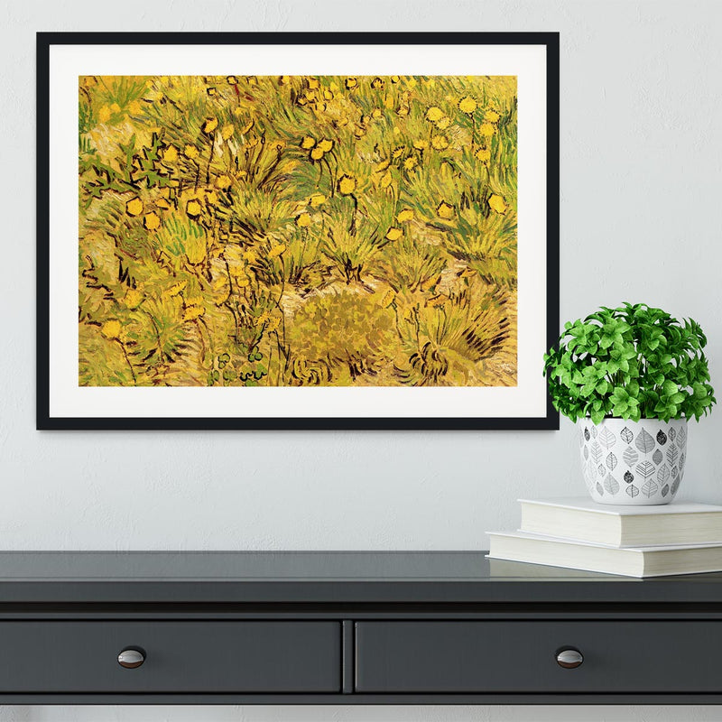 A Field of Yellow Flowers by Van Gogh Framed Print - Canvas Art Rocks - 1
