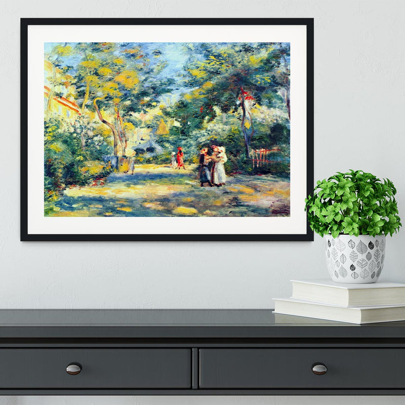 A Garden in Montmartre by Renoir Framed Print - Canvas Art Rocks - 1