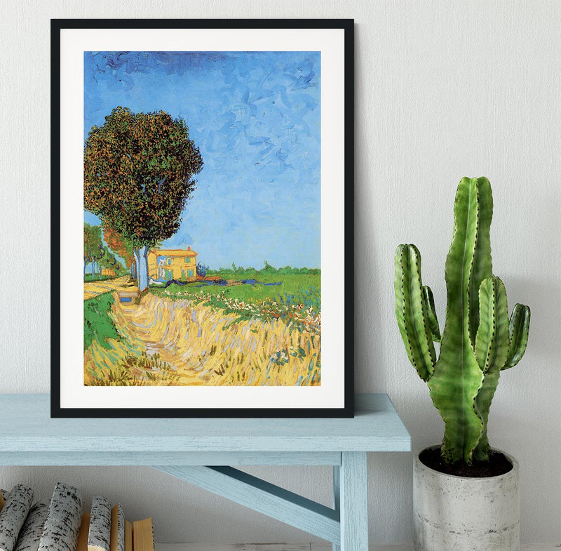 A Lane near Arles by Van Gogh Framed Print - Canvas Art Rocks - 1