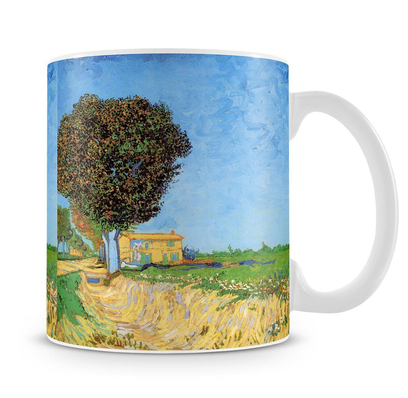 A Lane near Arles by Van Gogh Mug - Canvas Art Rocks - 4