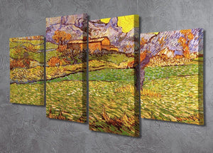A Meadow in the Mountains Le Mas de Saint-Paul by Van Gogh 4 Split Panel Canvas - Canvas Art Rocks - 2