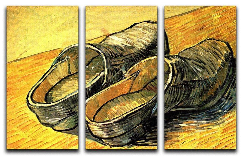 A Pair of Leather Clogs by Van Gogh 3 Split Panel Canvas Print - Canvas Art Rocks - 4