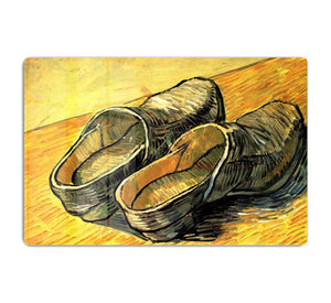 A Pair of Leather Clogs by Van Gogh HD Metal Print
