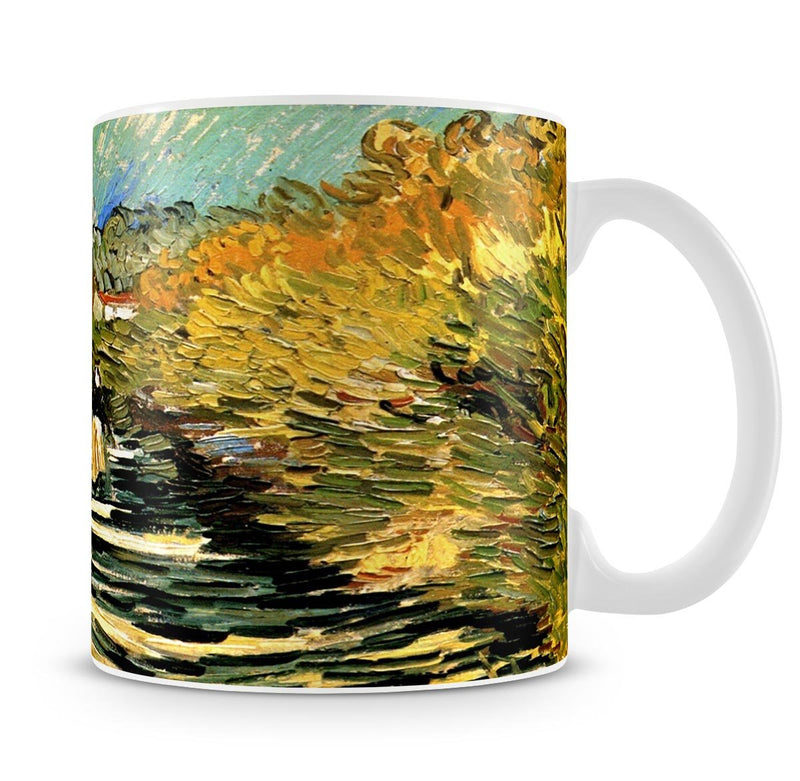 A Road at Saint-Remy with Female Figure by Van Gogh Mug - Canvas Art Rocks - 4
