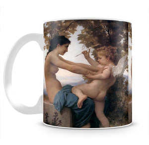 A Young Girl Defending Herself Against Eros By Bouguereau Mug - Canvas Art Rocks - 2