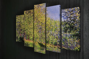 A bend of the Epte Giverny by Monet 5 Split Panel Canvas - Canvas Art Rocks - 2