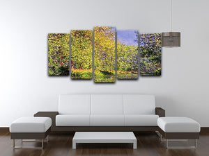A bend of the Epte Giverny by Monet 5 Split Panel Canvas - Canvas Art Rocks - 3