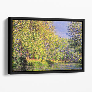 A bend of the Epte Giverny by Monet Floating Framed Canvas