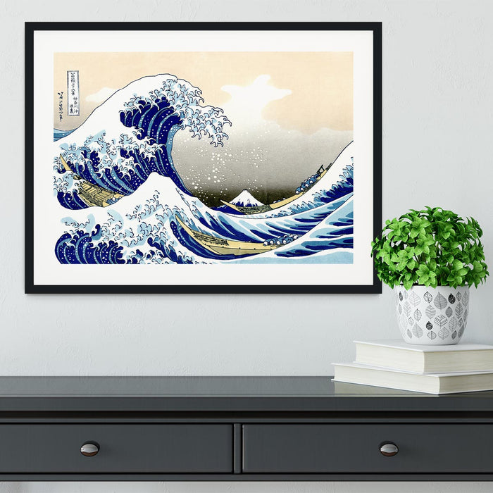 A big wave off Kanagawa by Hokusai Framed Print