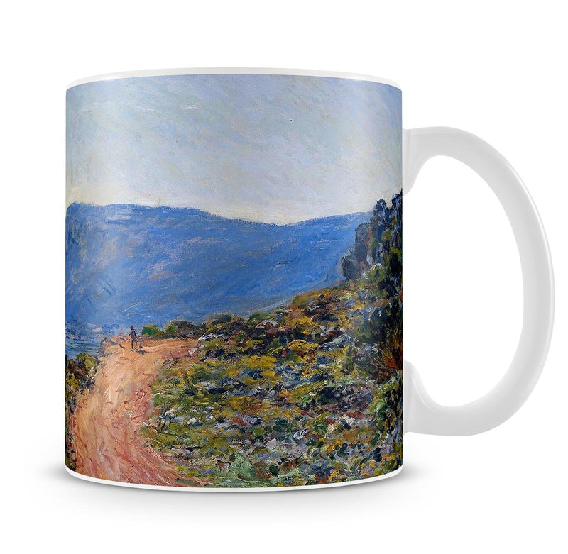 A coastal view with a bay by Monet Mug - Canvas Art Rocks - 4
